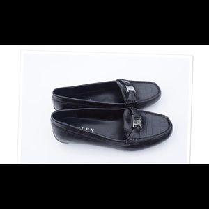 Ralph Lauren Women's Careigh Black Embossed Loafer